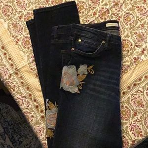 Kut from the Kloth Embroidered Jeans